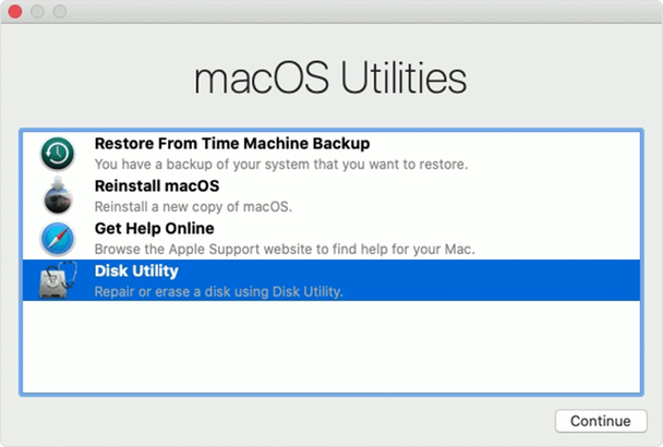 macOS disk utility
