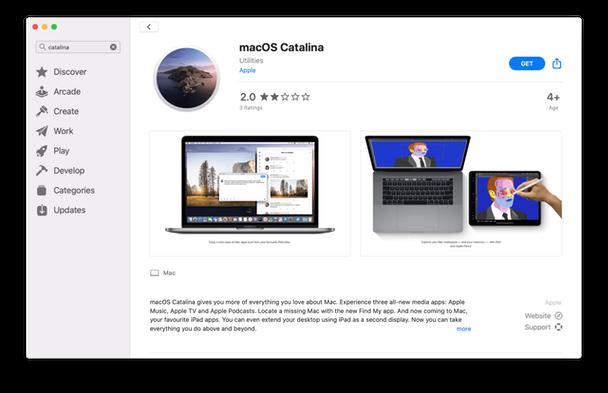 macOS Catalina in AppStore
