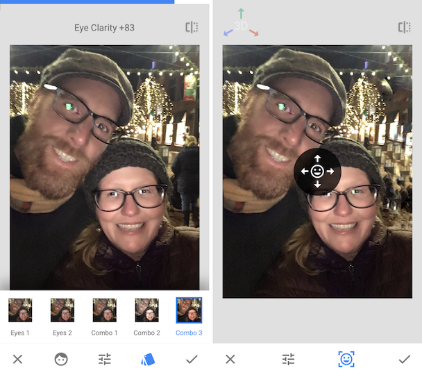 Snapseed editing for portraits