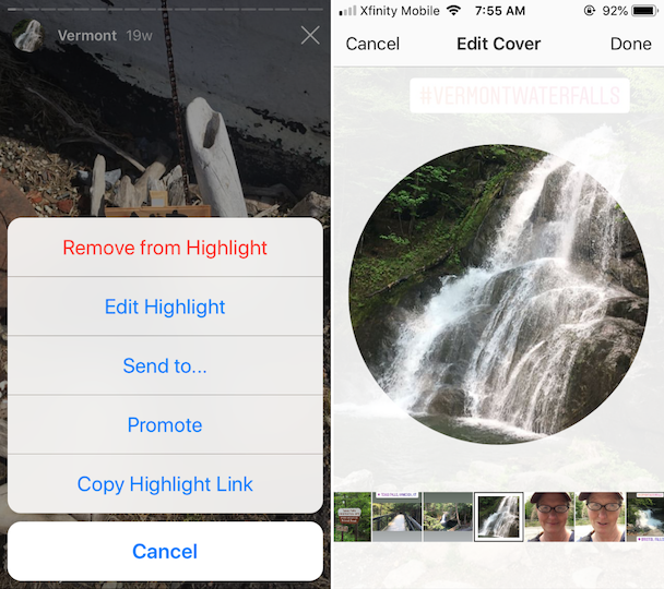 How to edit Highlight covers for Instagram