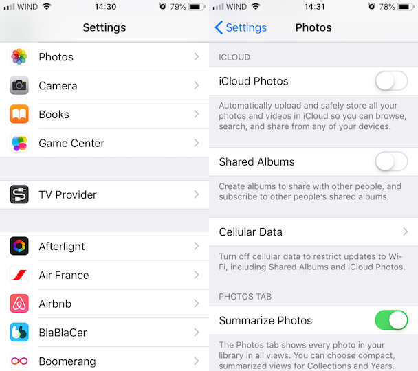 How to free up iPhone space: Enable iCloud Photos