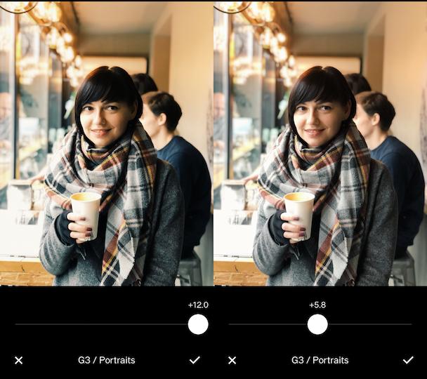 G3, the best free VSCO filter for portraits