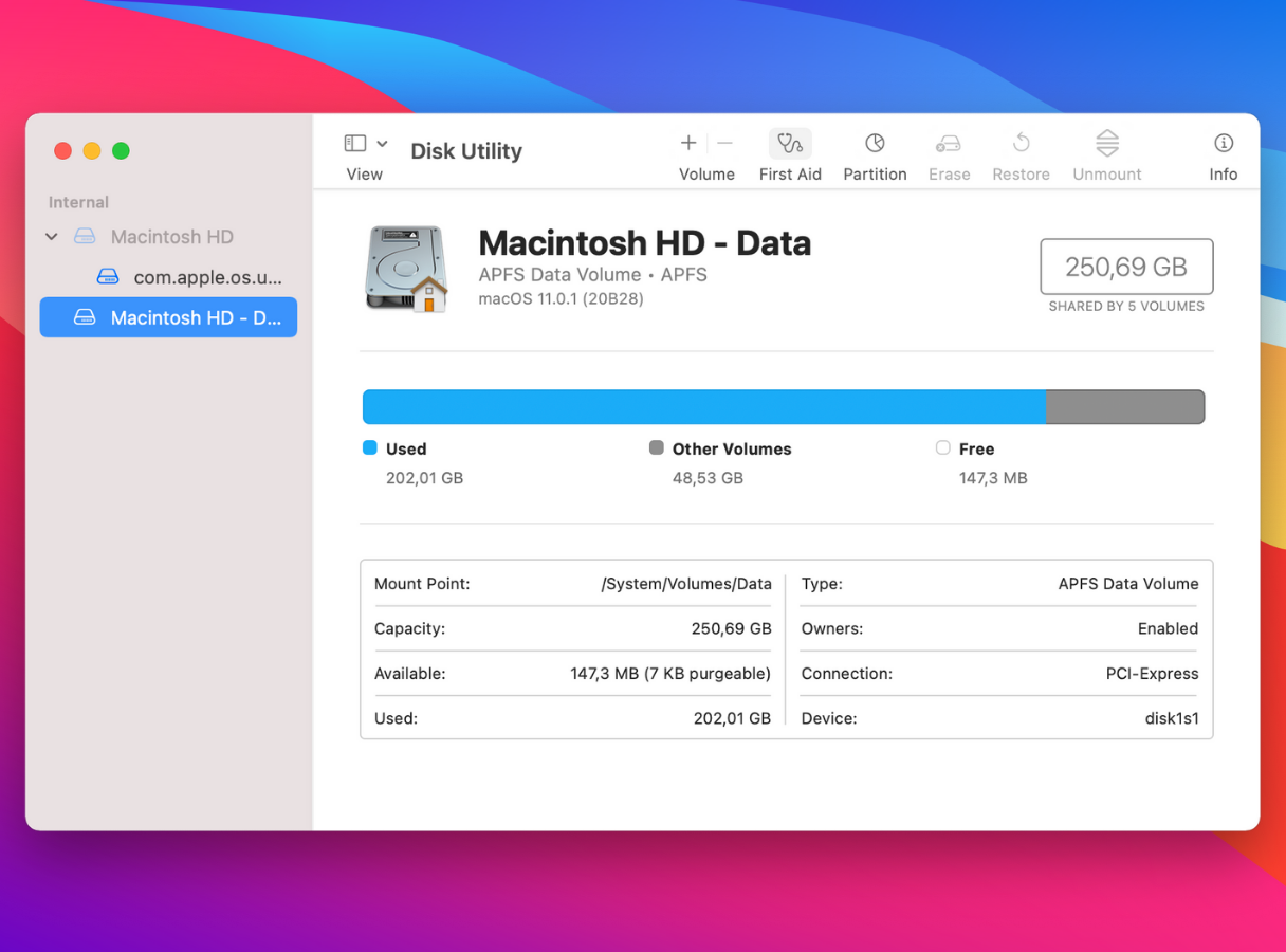 How to run disk utility