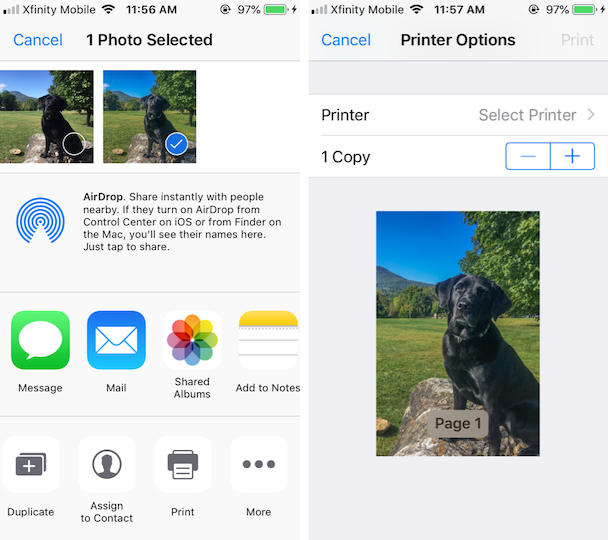 Screenshots: How to add a printer to your iPhone