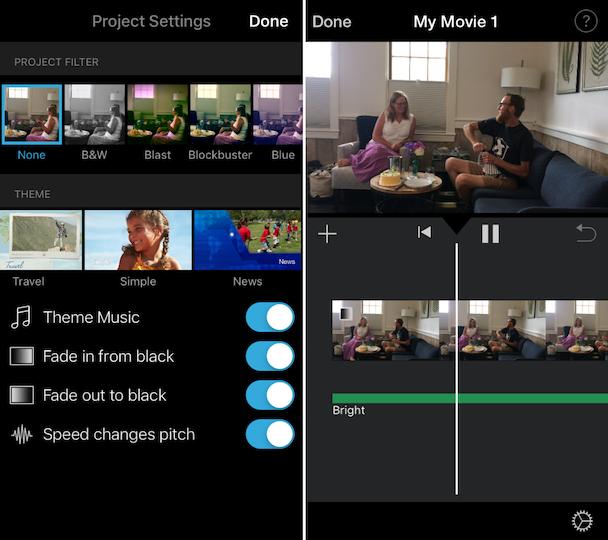 Screenshots: How to add music to iMovie on iPhone