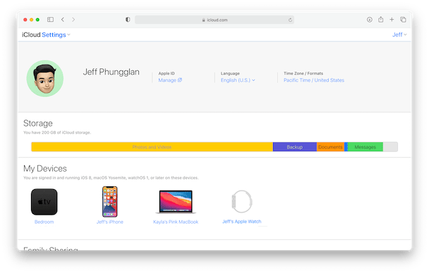 How to see iCloud settings