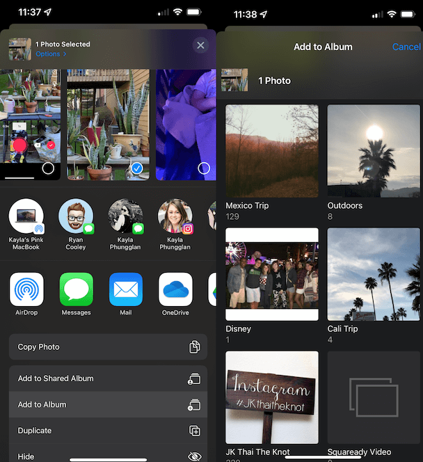 How to add photos to a photo album