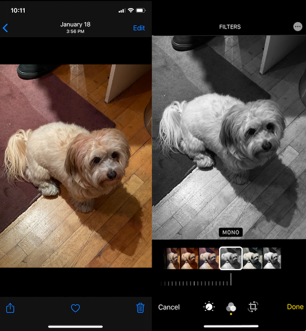 To prevent duplicate photos on iPhone, edit in the Photos app