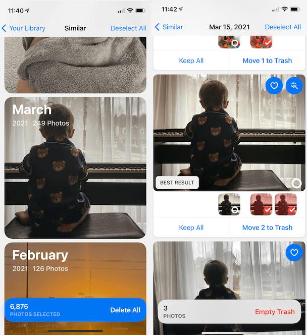 Step 1 to organize your photos: Delete similar pics