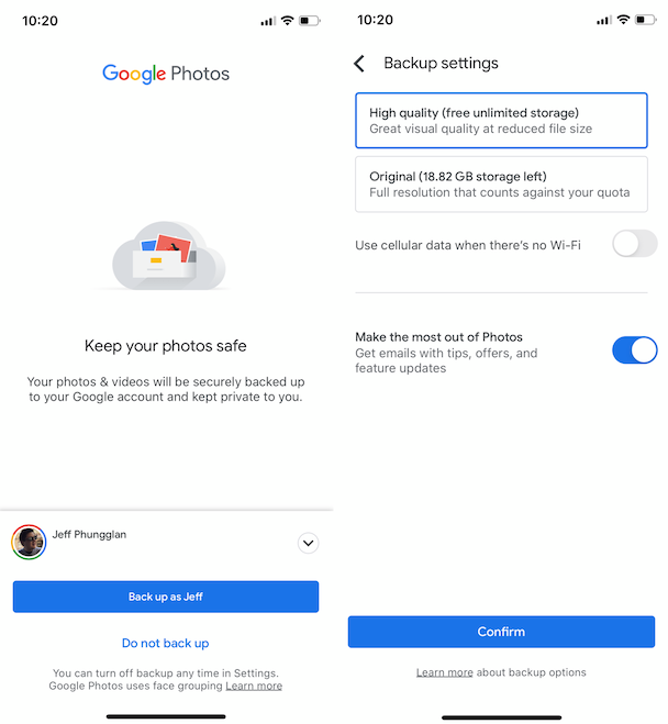 How to copy photos from iPhone to Android or vice versa with Google Photos