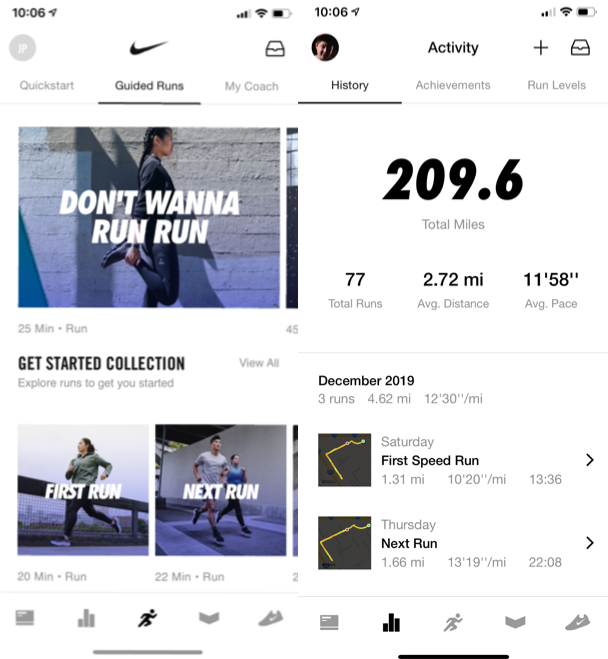 Nike Run Club, one of the best iPhone apps to start running