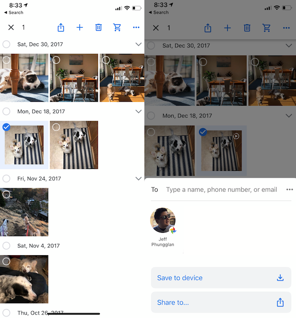 Screenshots: How to download photos from Google Photos to your iPhone