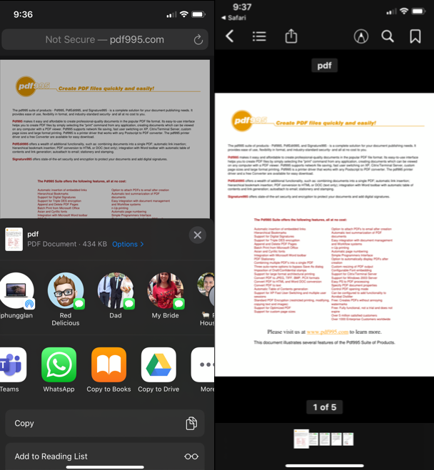 How to download PDF files on iPhone