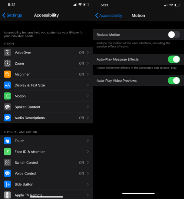 How to save battery on iPhone: Reduce motion