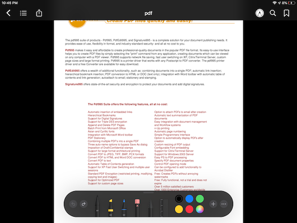Apple Bopoks, the native PDF reader for iPhone