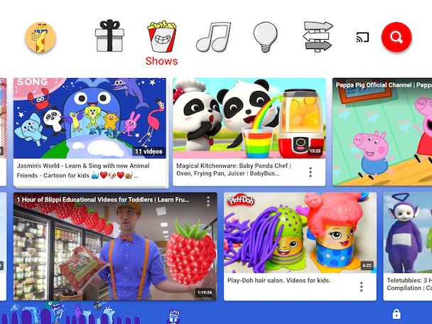 YouTube Kids, one of the best YouTube apps for kids