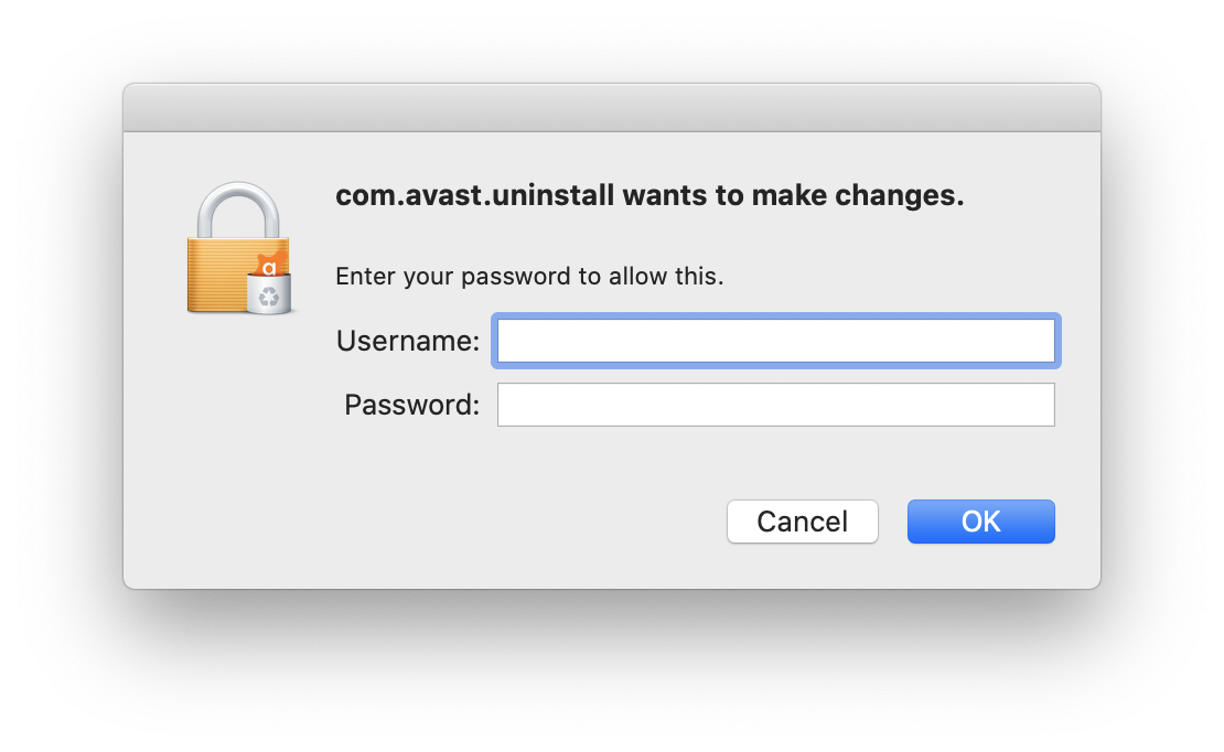 confirm to uninstall avast