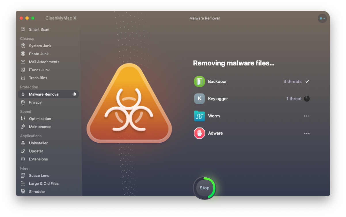 CleanMyMacX anti-malware software
