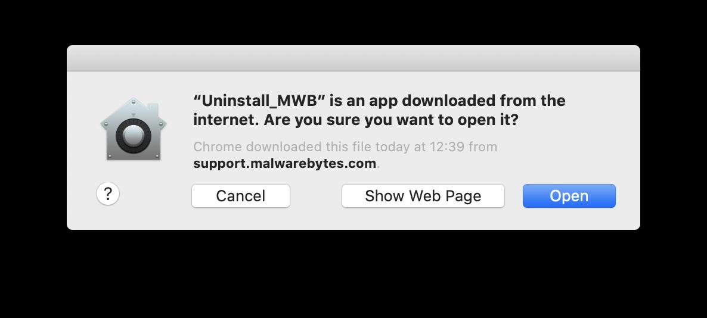 Download the Mac uninstall script