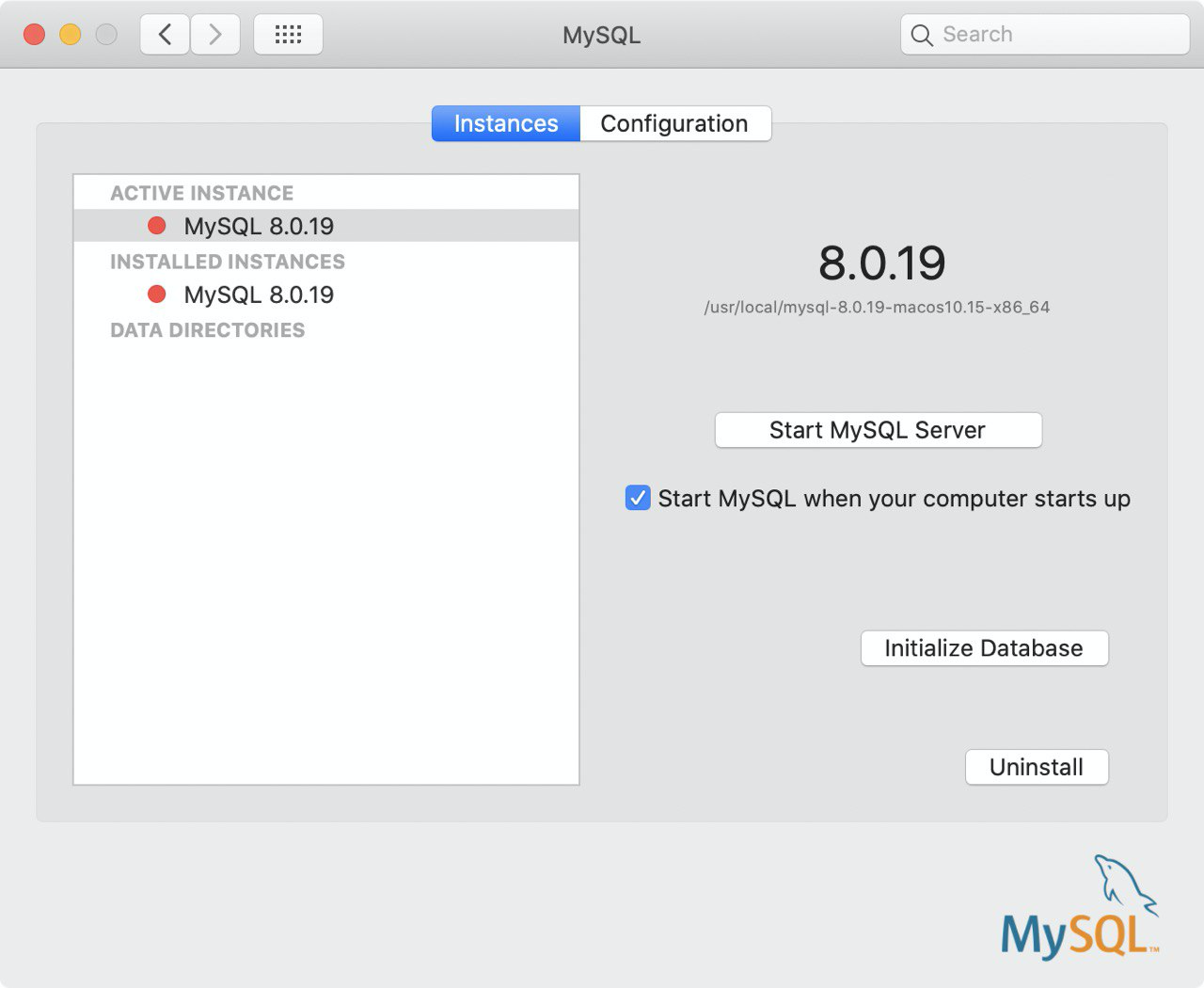 remove MySQL from your Mac manually