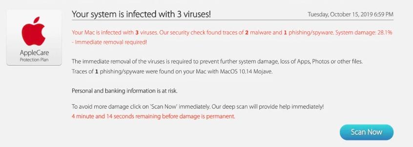 Fake virus alerts