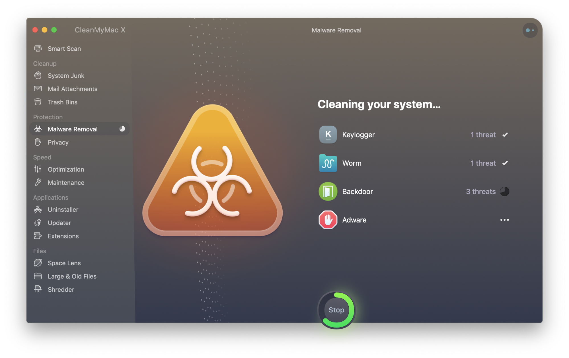 scan your Mac with CleanMyMac X to ensure no harmful elements hide in the system folders