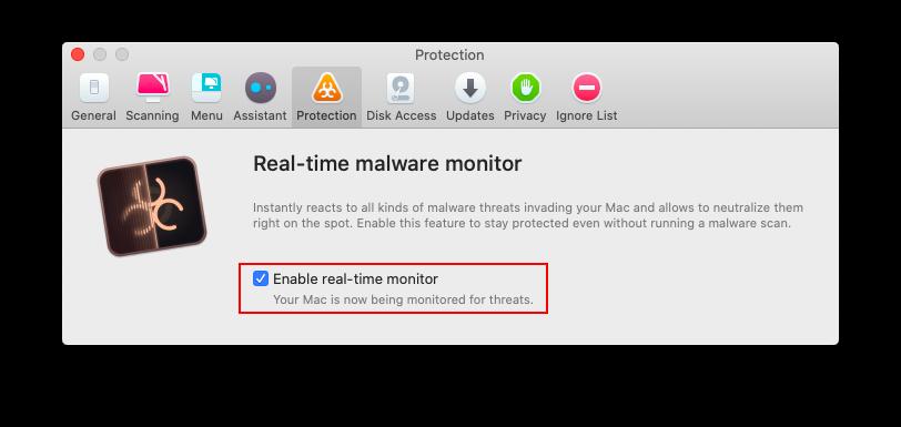 anti-malware monitor
