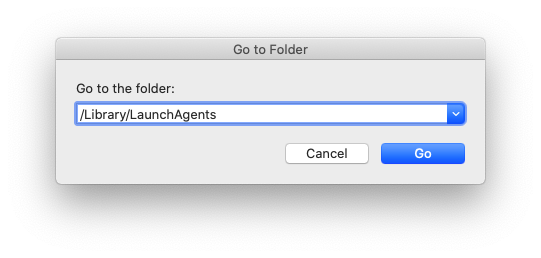 go to the folder ~/Library/LaunchAgents