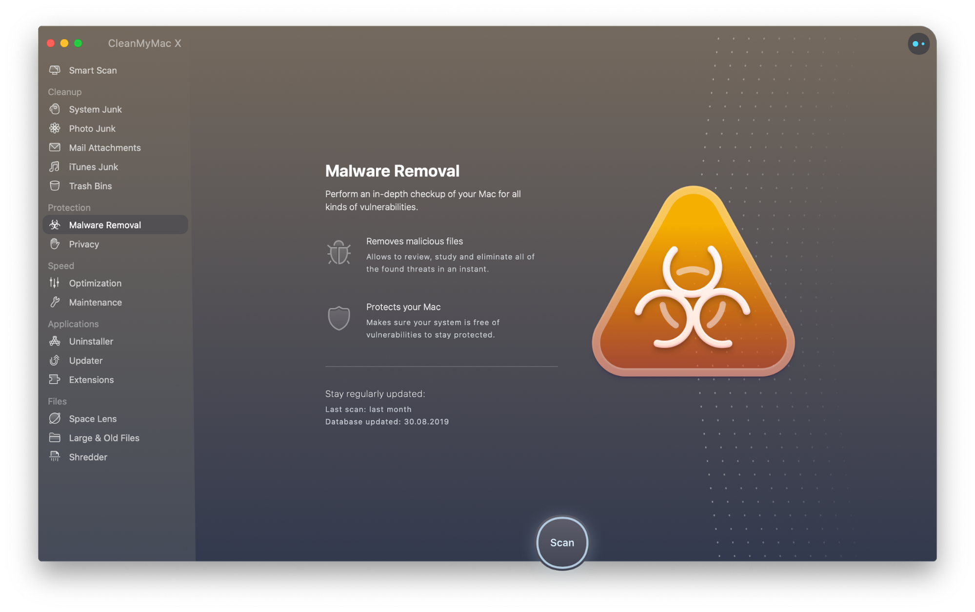 CleanMyMac X Malware Removal tool