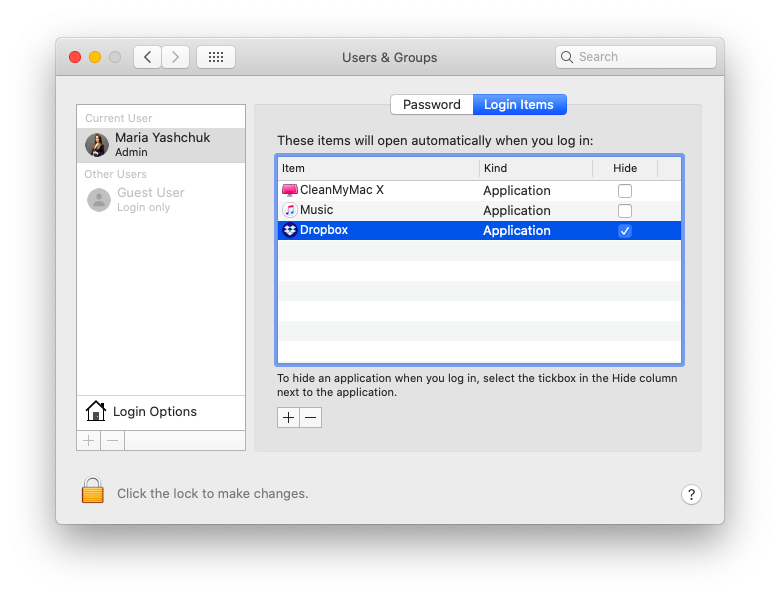 System Preferences in the Apple menu