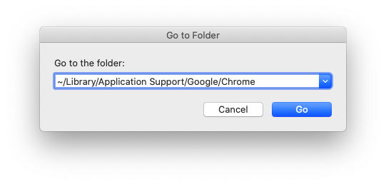 Application Support Google Chrome