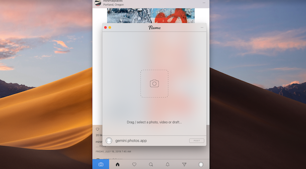 How to post on Instagram from Mac using Flume, an Instagram app for Mac