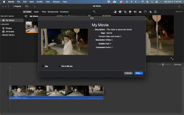 How to compress videos with iMovie