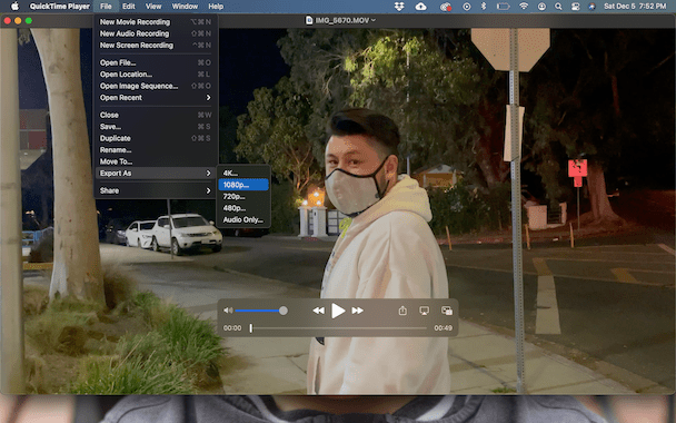 How to compress videos with Quick Time player
