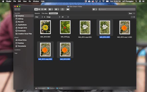 Smart folders on Mac
