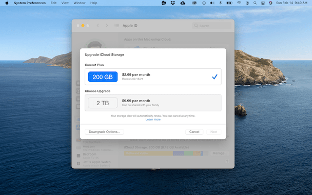 How to upgrade iCloud storage