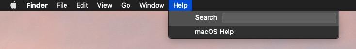 macos help menu
