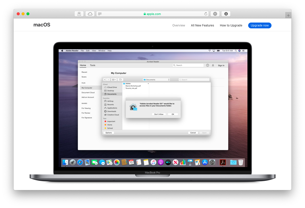 macos catalina security features mac