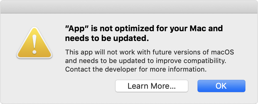 app is not optimized for your mac | macOS catalina issues