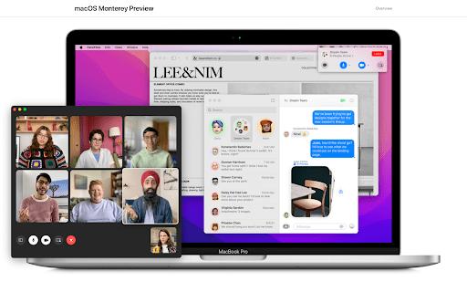 macOS Monterey screenshot