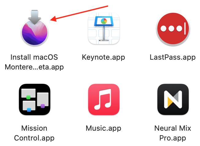 macOS Monterey installer