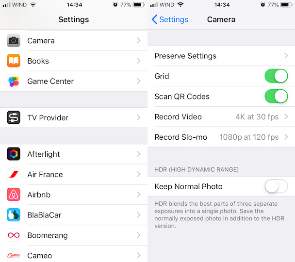 How to make space on iPhone: Stop saving non-HDR photos