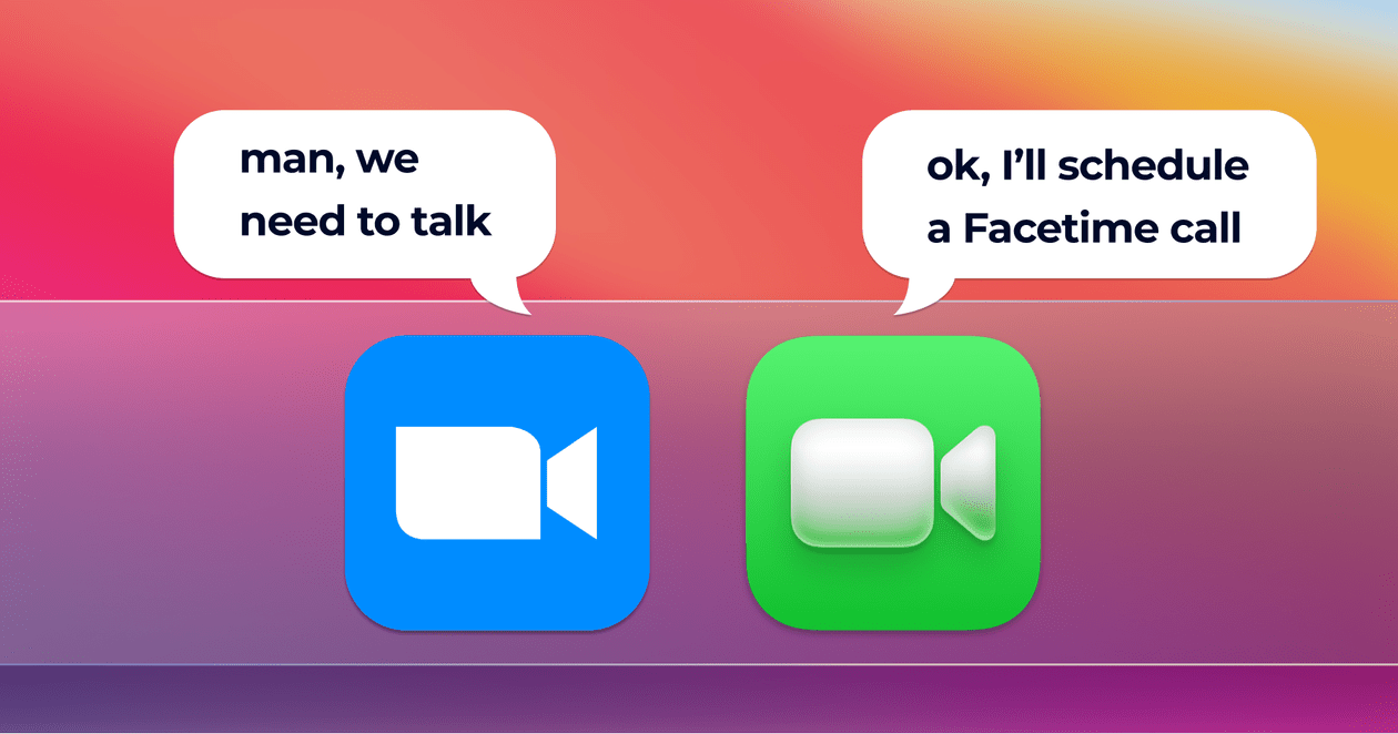 Zoom and Facetime icons
