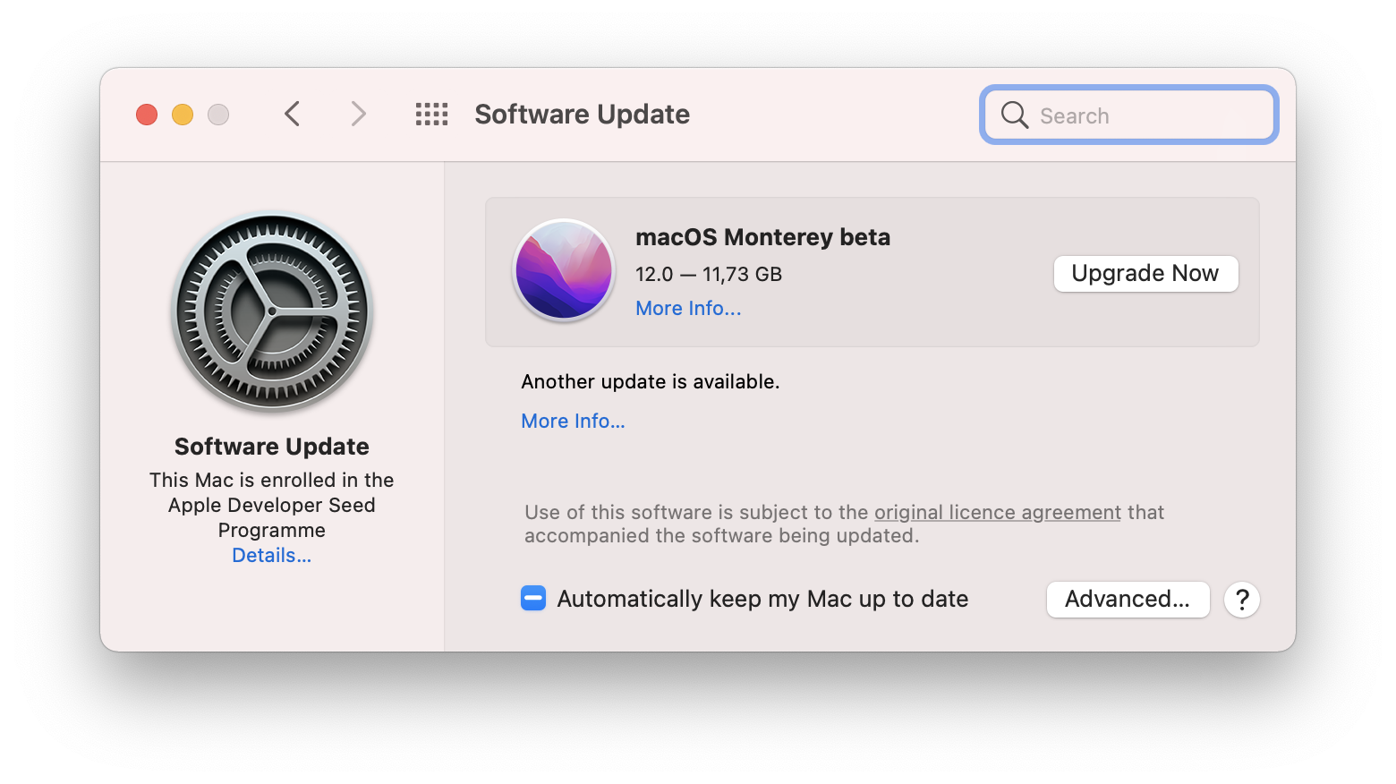 How to check for macOS Monterey update