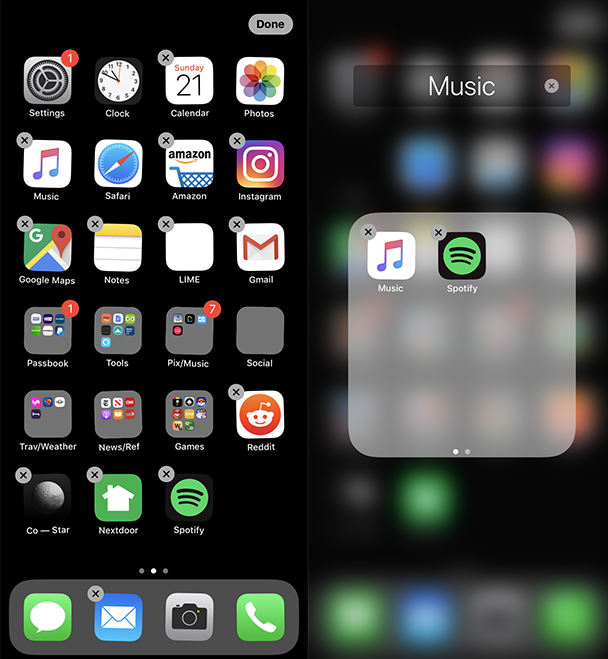 Screenshot: How to organize apps on iPhone