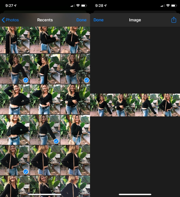 One of the best iOS shortcuts for photos: Photo Grid