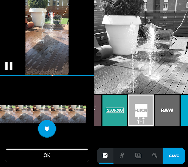 Quik, a video maker app for iPhone
