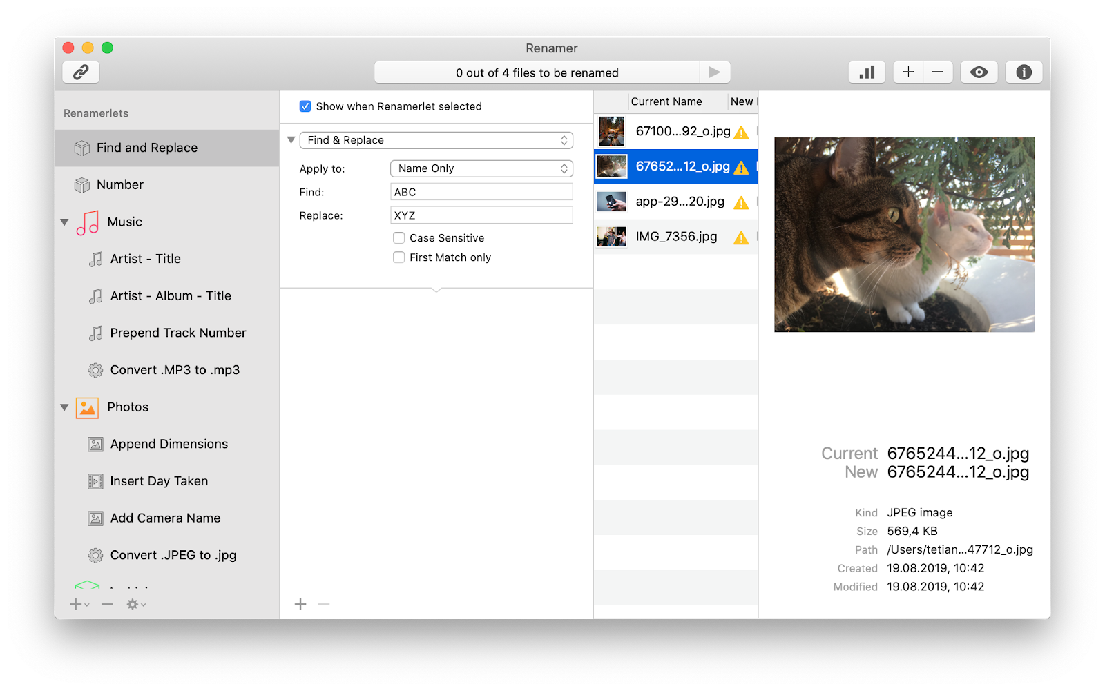 How to rename multiple files on your Mac