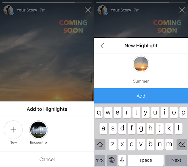 How to save your IG Story to Highlights