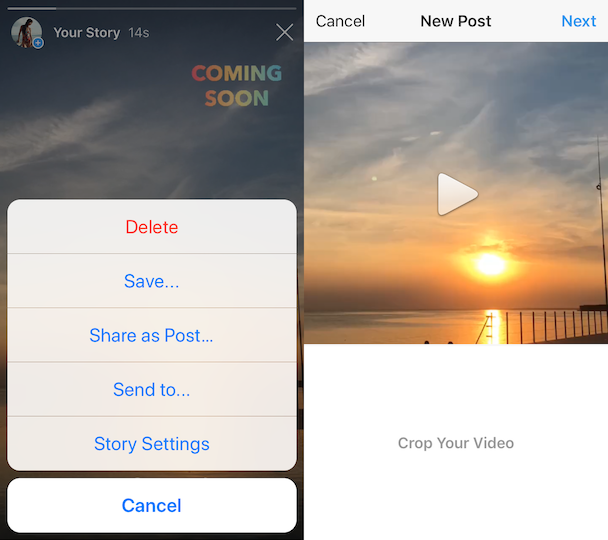 How to save your Instagram Story as a post